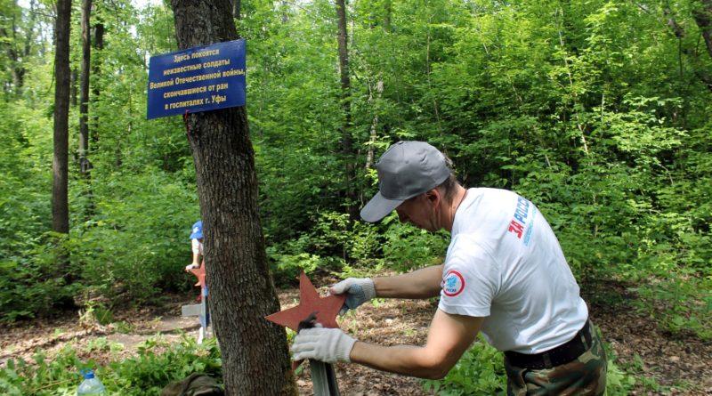 Активисты ОНФ привели в порядок захоронение красноармейцев на Курочкиной горе